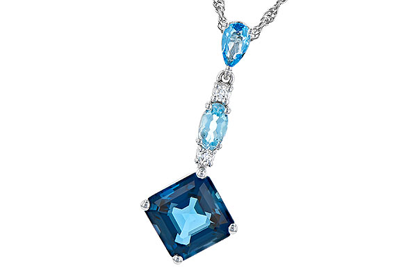 A319-03583: NECK 2.95 TW BLUE TOPAZ 3.00 TGW