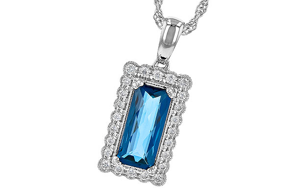 C236-35374: NECK 1.55 LONDON BLUE TOPAZ 1.70 TGW