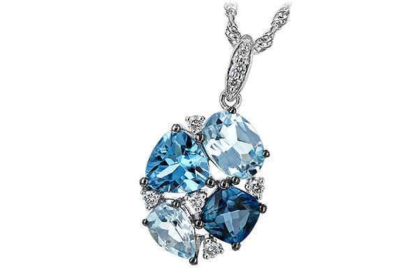 D235-38092: NECK 2.60 BLUE TOPAZ 2.70 TGW