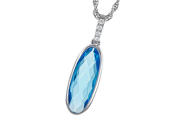 F319-03601: NECK 1.90 BLUE TOPAZ 1.93 TGW