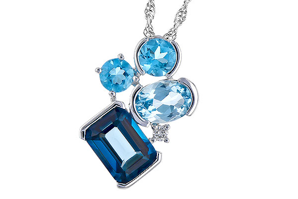 F319-07228: NECK 3.08 BLUE TOPAZ TW 3.11 TGW