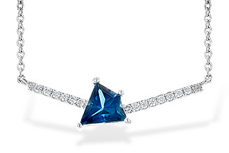 M236-34464: NECK .87 LONDON BLUE TOPAZ .95 TGW